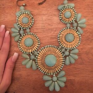 Francesca's turquoise collar necklace